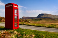 Duntulm. Red Phone Box.  Isle of Skye. Scotland.
