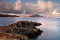 Ben Tianavaig rainbow . The Braes. Isle of Skye. Scotland.