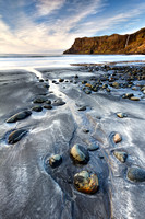 Talisker Beach and Cliffs in Winter. Isle of Skye. Scotland.