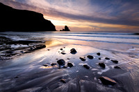 Talisker Bay Sunset Winter. Isle of Skye. Scotland.