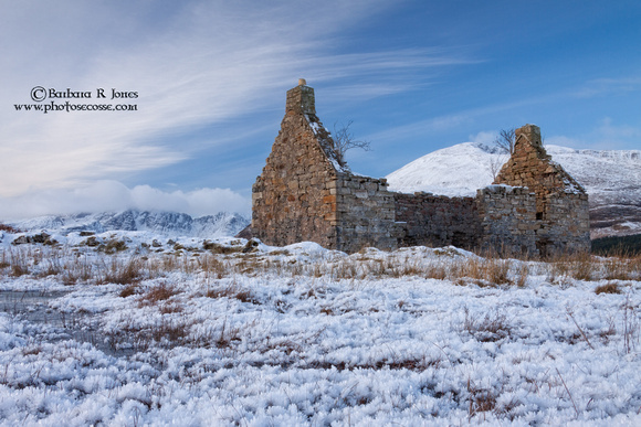 Kilchrist Ruin in Winter #2. Strath Suardal. Isle of Skye. Scotland.