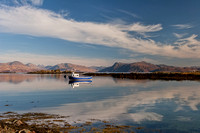 Armadale. Sound of Sleat reflections. Isle of Skye. Scotland.