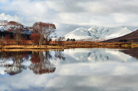 An Teallach in late Winter. Reflection. Loch Dhroma. Wester Ross. Scotland.