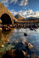 Glamaig, and The Old Bridge. Sligachan. Isle of Skye, Scotland.