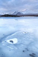 Blackmount. Lochan na h-Achlaise. Icy Cold. Rannoch Moor. Highland Scotland.