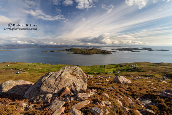 Summer Isles from Hill of the Fairies # 2.  North West Geopark. Scotland.