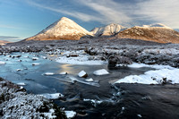 Glamaig and Red Hills. River Sligachan. Winter. Isle of Skye. Scotland.