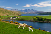 Gesto Farm and Loch Harport in Spring. Isle of Skye. Scotland.