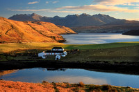 Gesto farm in Winter sunlight. Isle of Skye, Scotland.