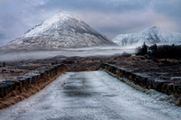 Glamaig and Winter Mist. Sligachan. Isle of Skye. Scotland.
