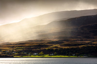 Braes in Autumn Rain. From Suisnish. Isle of Raasay. Scotland