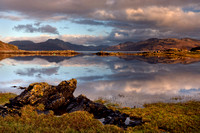 Sound of Sleat. Knoydart from Camuscross. Isle of Skye. Scotland.