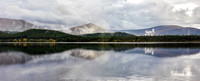Loch Morlich Reflection. Pano. Cairngorm National Park. Scotland.