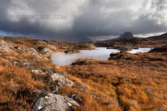 Canisp and Suilven Storm Passing Assynt Scotland