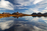 Aird of Coigach. Mountain Reflection. Scotland.