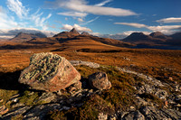 Aird of Coigach. Inverpolly Hills in Autumn.  Scotland.