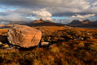 Aird of Coigach. Erratic Boulder. North West Geopark. Scotland.
