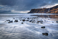Talisker Beach in February. Isle of Skye. Scotland.