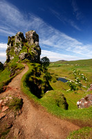 Fairy Glen, by Uig, Isle of Skye. Scotland.