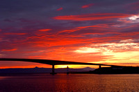 Kyleakin, Skye Bridge at Sunset, Isle of Skye, Scotland.