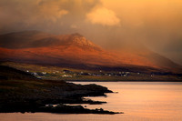 Achiltibuie from Polbain, storm clearing. North West Scotland.