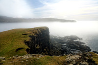 Oronsay Island, Sea Haar. Minginish. Isle of Skye. Scotland.