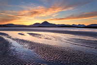 Ashaig Beach . Cuillin Sunset. Isle of Skye. Scotland.