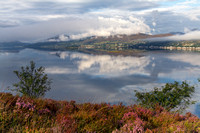 Lochcarron reflections and Autumnal Mists. North West Highlands. Scotland.
