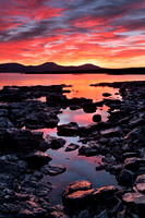 Ullinish Sunset in Spring. Loch Bracadale. Isle of Skye. Scotland.