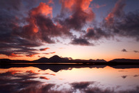 Ashaig Sunset and reflection. Lower Breakish. isle of Skye. Scotland.