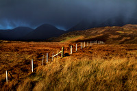 Red Cuillin , stormy weather. Kilbride. Suisnish. Isle of Skye, Scotland.
