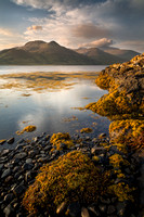 Ben More Hills. Loch Na Keal post sunrise. Isle of Mull. Scotland.