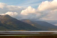 Ben More Hills. Loch Na Keal. Early morning clouds. Isle of Mull. Scotland.