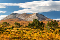 Beinn Eighe. Torridon. Golden Autumn Light. Wester Ross. Highland Scotland.