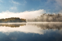 Loch Garry. Mist on the Loch in Autumn. Highland Scotland.