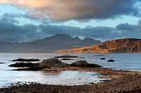Ord, and Bla Bheinn. Winter Light. Sleat Peninsula. Isle of Skye. Scotland.
