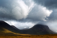 Marsco Mean and Moody. Red Cuillin. Sligachan. Isle of Skye. Scotland.