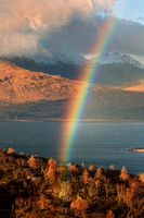 Beinn Alligin Rainbow. Loch Torridon. Wester Ross. Highland Scotland.