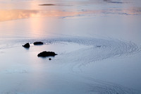 Lochan Cill Chriosd, Ice detail at Sunset. Strath Suardal. Isle of Skye. Scotland.