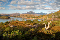 Shieldaig and the Hills of Torridon. Wester Ross. Highland Scotland.