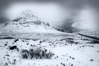 Glencoe. The Glen of Weeping. Mono. Highland Scotland.