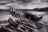 Boat Wreck, The Reaper,  at Talmine Beach. Tongue. Sutherland, Northern Highlands of Scotland.