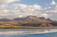 Ben Loyal. Across the Kyle of Tongue. Evening Light in late Spring. Sutherland. Northern Scotland.