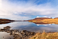 Assynt Reflections. late Winter. North West Geopark. Scotland.