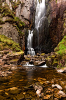 Wailing Widow Waterfalls in Spring. Assynt. Northern Scotland.