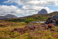Canisp and Suilven in early Autumn. Glencanisp. Assynt. Highland Scotland.