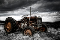 Rustic Tractor TEF-20. Committee Road, North Uist. Western Isles. Scotland.