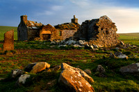 Ruined Cottage near Yesnaby. West Mainland Orkney. Scotland.