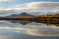 Ashaig. Beinn na Caillich Reflection. Lower Breakish. Isle of Skye. Scotland.