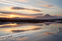 Ashaig. Sunset in Winter over Lower Breakish. Isle of Skye. Scotland.